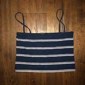 2 for $20 Brandy Melville blue striped crop top